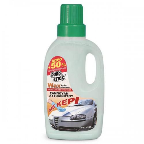 WAX AUTO SHAMPOO ΜΕ ΚΕΡΙ Durostick. Καθαριστικό και γυαλιστικό 750 ML