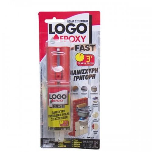 Logo Epoxy Fast Εποξική Kόλλα 2 συστατικών 30 ml