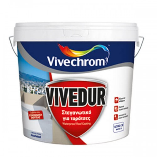 VIVEDUR Vivechrom. Στεγανωτικό και μονωτικό χρώμα για ταράτσες Λευκό 750 ML