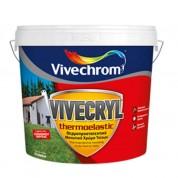 VIVECRYL THERMOELASTIC Vivechrom. Θερμοπροστατευτικό & μονωτικό χρώμα εξωτερικών τοίχων Λευκό 10 Lt