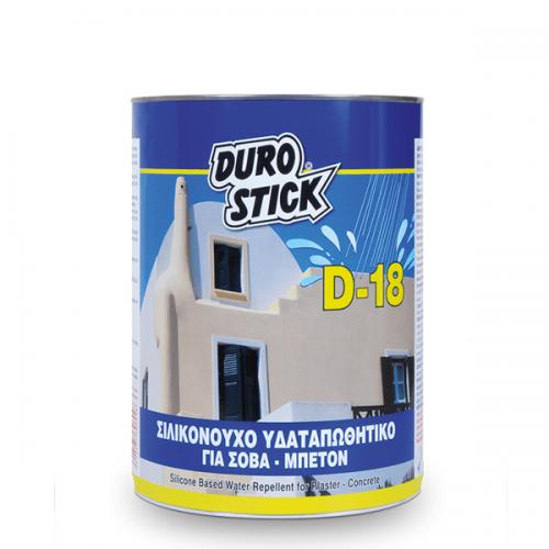 DUROSTICK D-18 Σιλικονούχο υδαταπωθητικό για σοβά & μπετόν 1 Lt