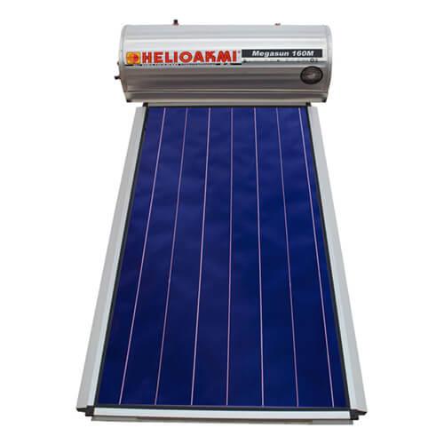 Ηλιακός Θερμοσίφωνας Helioakmi Megasun Μ160 lt / 2,10 m² με επιλεκτικό κάθετο Συλλέκτη Τιτανίου Διπλής Ενέργειας με Glass Boiler