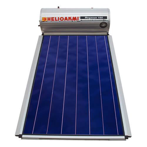 Ηλιακός Θερμοσίφωνας Helioakmi Megasun 160 lt / 2,62 m² με επιλεκτικό κάθετο Συλλέκτη Τιτανίου Διπλής Ενέργειας με Glass Boiler