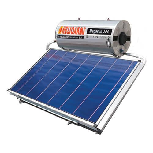 Ηλιακός Θερμοσίφωνας Helioakmi Megasun 160 lt / 2,62 m² με επιλεκτικό οριζόντιο Συλλέκτη Τιτανίου Διπλής Ενέργειας με Glass Boiler