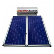 Ηλιακός Θερμοσίφωνας Helioakmi Megasun E200 lt / 4,20 m² με 2 επιλεκτικούς κάθετους Συλλέκτες Τιτανίου Τριπλής Ενέργειας με Glass Boiler
