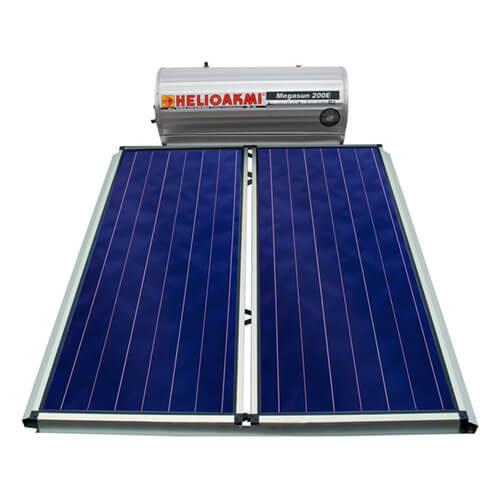 Ηλιακός Θερμοσίφωνας Helioakmi Megasun E200 lt / 4,20 m² με 2 επιλεκτικούς κάθετους Συλλέκτες Τιτανίου Διπλής Ενέργειας με Glass Boiler