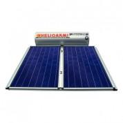 Ηλιακός Θερμοσίφωνας Helioakmi Megasun E300 lt / 5,24 m² με 2 επιλεκτικούς κάθετους Συλλέκτες Τιτανίου Διπλής Ενέργειας με Glass Boiler