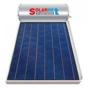 Ηλιακός Θερμοσίφωνας Solarnet 120 lt / 2,00 m² με επιλεκτικό κάθετο Συλλέκτη Τιτανίου Διπλής Ενέργειας με Glass Boiler