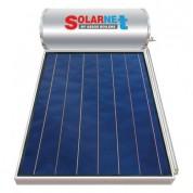 Ηλιακός Θερμοσίφωνας Solarnet 200 lt / 2,50 m² με επιλεκτικό κάθετο Συλλέκτη Τιτανίου Τριπλής Ενέργειας με Glass Boiler