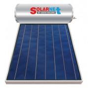 Ηλιακός Θερμοσίφωνας Solarnet Μ160 lt / 2,00 m² με επιλεκτικό κάθετο Συλλέκτη Τιτανίου Τριπλής Ενέργειας με Glass Boiler