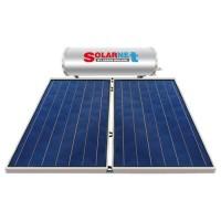Ηλιακός Θερμοσίφωνας Solarnet E200 lt / 4,00 m² με 2 επιλεκτικούς κάθετους Συλλέκτες Τιτανίου Διπλής Ενέργειας με Glass Boiler