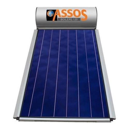 Ηλιακός Θερμοσίφωνας Assos Boilers 120 lt / 2,10 m² με επιλεκτικό κάθετο Συλλέκτη Τιτανίου Διπλής Ενέργειας με Glass Boiler