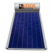Ηλιακός Θερμοσίφωνας Assos Boilers 200 lt / 2,62 m² με επιλεκτικό κάθετο Συλλέκτη Τιτανίου Τριπλής Ενέργειας με Glass Boiler