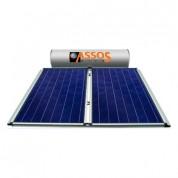 Ηλιακός Θερμοσίφωνας Assos Boilers E300 lt / 5,24 m² με 2 επιλεκτικούς κάθετους Συλλέκτες Τιτανίου Διπλής Ενέργειας με Glass Boiler