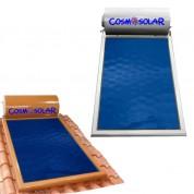 Ηλιακός Θερμοσίφωνας Cosmosolar CS-120 lt VS με επιλεκτικό κάθετο συλλέκτη, επιφάνειας 2,00 m², διπλής ενέργειας με Glass Boiler