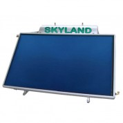 Ηλιακός Θερμοσίφωνας Skyland GLB 150 lt με επιλεκτικό χαμηλού ύψους οριζόντιο συλλέκτη, επιφάνειας 2,30 m², τριπλής ενέργειας με Glass Boiler