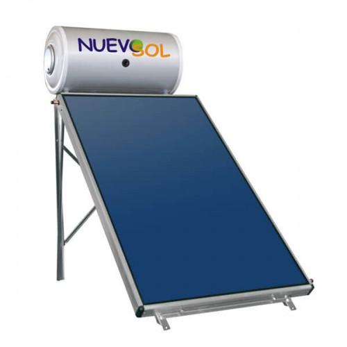 Ηλιακός Θερμοσίφωνας Nuevosol 80 lt με επιλεκτικό κάθετο συλλέκτη, επιφάνειας 1,50 m², διπλής ενέργειας με Glass Boiler