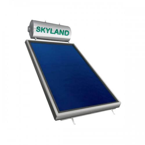 Ηλιακός Θερμοσίφωνας Skyland GL 150 lt με επιλεκτικό κάθετο συλλέκτη, επιφάνειας 2,30 m², διπλής ενέργειας με Glass Boiler