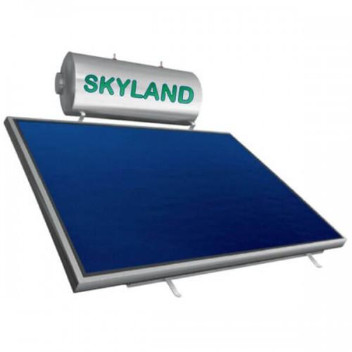 Ηλιακός Θερμοσίφωνας Skyland GL 120 lt με έναν επιλεκτικό οριζόντιο συλλέκτη 2.05 m², διπλής ενέργειας με Glass Boiler