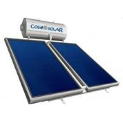 Ηλιακός Θερμοσίφωνας Cosmosolar CS-300 lt VS με δύο επιλεκτικούς κάθετους συλλέκτες 2x2.00 m², συνολικής επιφάνειας 4,00 m², διπλής ενέργειας με Glass Boiler