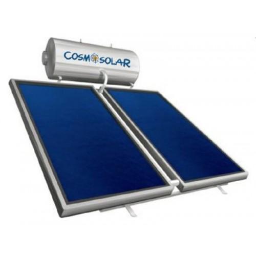 Ηλιακός Θερμοσίφωνας Cosmosolar CS-250 lt VS με δύο επιλεκτικούς κάθετους συλλέκτες 2x2.00 m², συνολικής επιφάνειας 4,00 m², διπλής ενέργειας με Glass Boiler