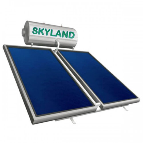 Ηλιακός Θερμοσίφωνας Skyland IN 170 lt με δύο επιλεκτικούς κάθετους συλλέκτες 2x1.55 m², συνολικής επιφάνειας 3,10 m², διπλής ενέργειας με Inox Boiler