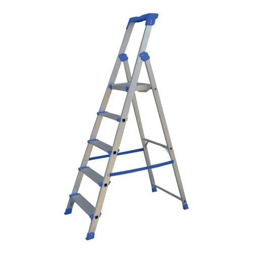 Σκάλα Αλουμινίου 4+1 με σκαλοπάτι 10 cm Profal 204105