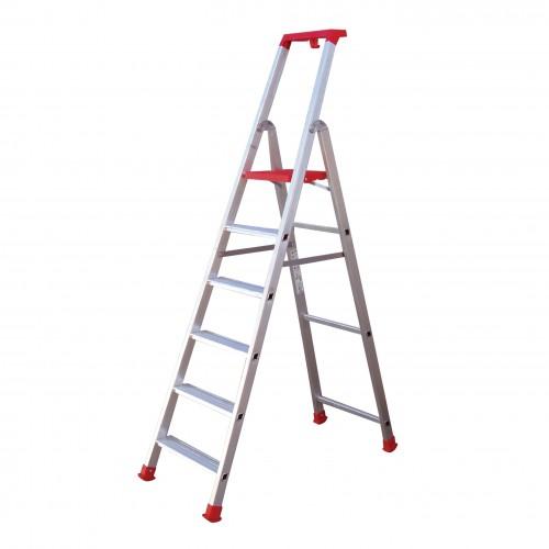 Σκάλα Αλουμινίου ενισχυμένη 6+1 Marea Profal 204601