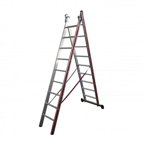 Σκάλα Αλουμινίου Πτυσσόμενη δύο τεμ. 2x7 Profal 800207