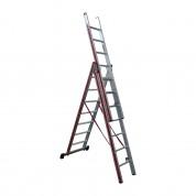 Σκάλα Αλουμινίου Πτυσσόμενη τριών τεμ. 3x7 Profal 800307