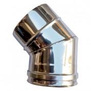 Γωνία Διπλού Τοιχώματος Inox Φ100-150 45°