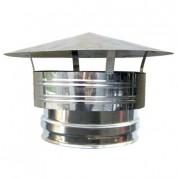 Καπέλο Αντιανεμικό Θηλυκό Καμινάδας Διπλού Τοιχώματος Inox Φ100-150