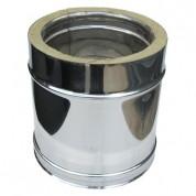 Καμινάδα Διπλού Τοιχώματος Inox 0,25 m Φ100-150