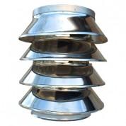 Καπέλο Αrt Mary Θηλυκό Καμινάδας Διπλού Τοιχώματος Inox Φ100-150