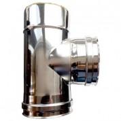 Ταφ Διπλού Τοιχώματος Inox Φ100-150 90°