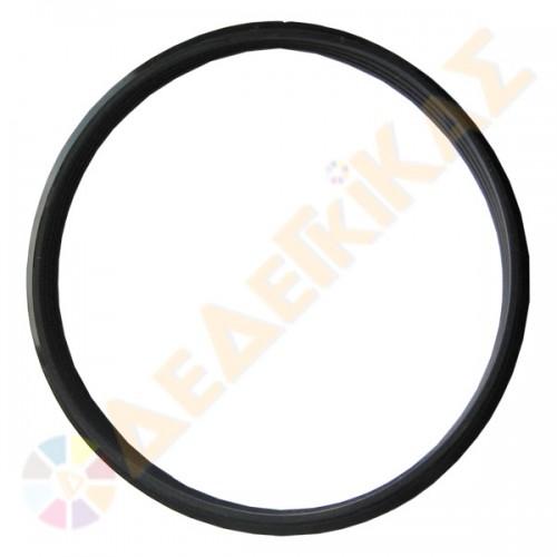 Φλάντζα Σιλικόνης Μαύρη 200°C Καμινάδας Μονού Τοιχώματος Inox Φ80