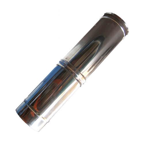 Καμινάδα Μονού Τοιχώματος Inox ρυθμ. 0,30 m - 0,45 m Φ130