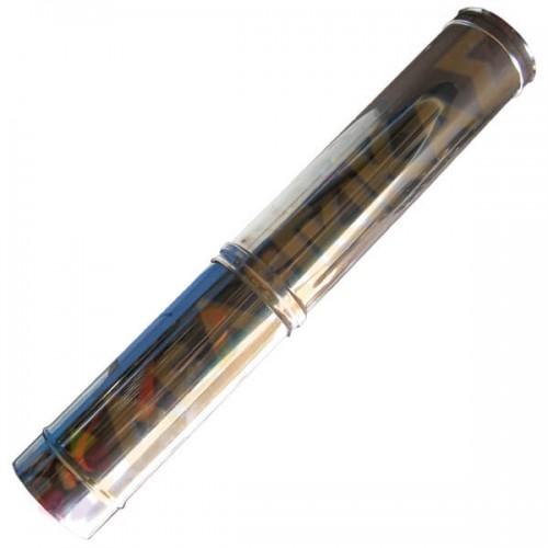 Καμινάδα Μονού Τοιχώματος Inox ρυθμ. 0,55 m - 0,95 m Φ80