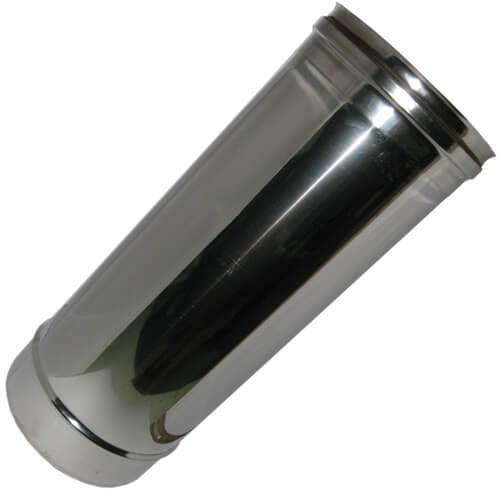 Καμινάδα Μονού Τοιχώματος Inox 0,5 m Φ130