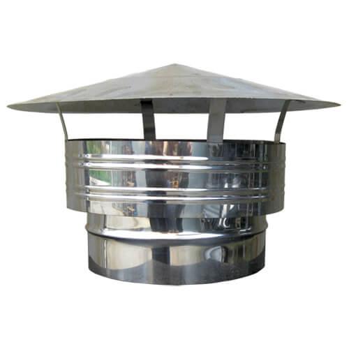 Καπέλο Αντιανεμικό Αρσενικό Καμινάδας Μονού Τοιχώματος Inox Φ120