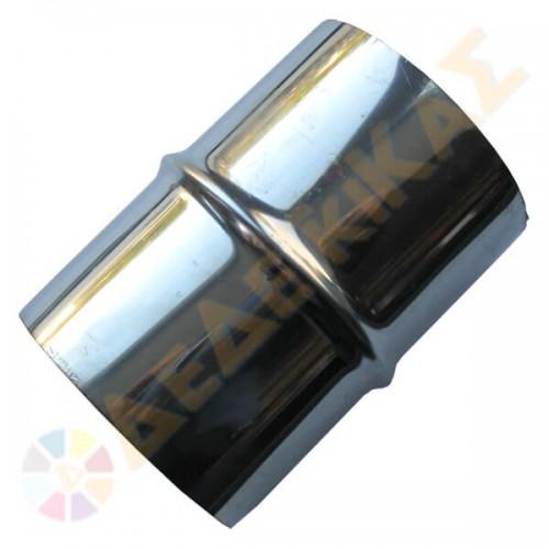 Μούφα Μονού Τοιχώματος Inox Φ80 αρσενική-αρσενική
