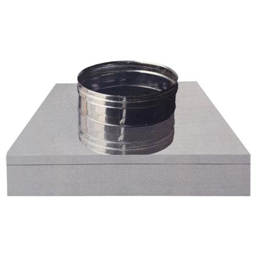 Τετράγωνη Βάση 20x20 για Καμινάδα Μονού Τοιχώματος Inox Φ120
