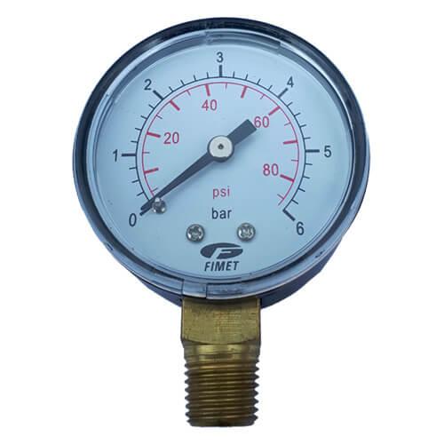 Μανόμετρο κάθετο Φ50 1/4 Ίντσας 6 bar
