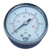 Μανόμετρο οριζόντιο Φ50 1/4 Ίντσας 6 bar