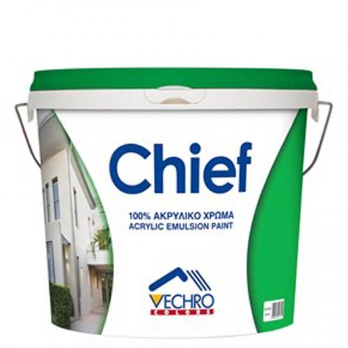 CHIEF ΑΚΡΥΛΙΚΟ, Vecrho. Οικονομικό ακρυλικό χρώμα 100%. Λευκό 9 Lt