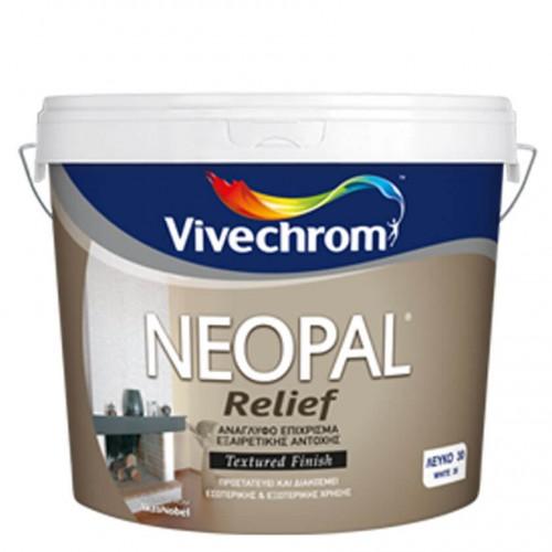 NEOPAL RELIEF, Vivechrom. Aνάγλυφο διακοσμητικό επίχρισμα Λευκό 5kg