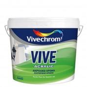 VIVE ACRYLIC, Vivechrom. Aκρυλικό χρώμα εξωτερικής χρήσης Λευκό 9 Lt