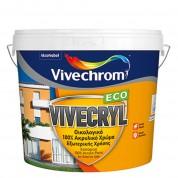 VIVECRYL, Vivechrom. Aκρυλικό χρώμα ματ εξωτερικής χρήσης Λευκό 10 Lt