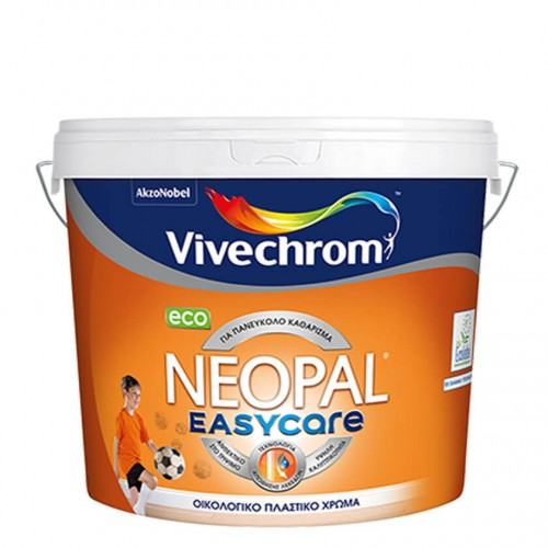 NEOPAL Easycare Eco Vivechrom. Πλαστικό χρώμα Λευκό 1 Lt