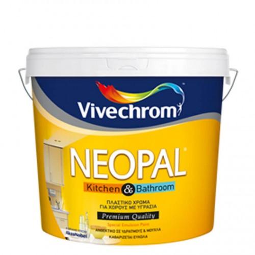 NEOPAL KITCHEN & BATHROOM, Vivechrom. Mυκητοκτόνο πλαστικό χρώμα Λευκό 3 Lt